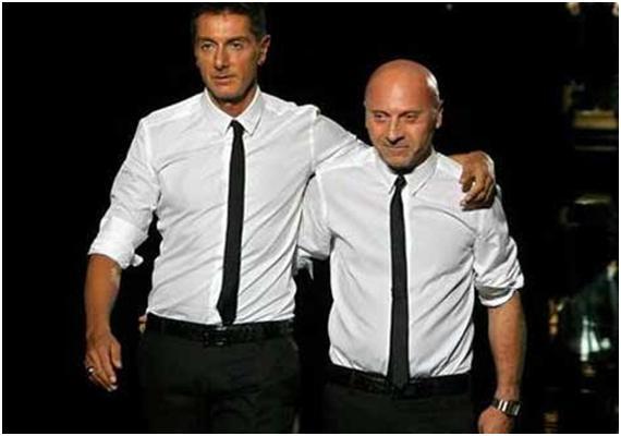 Diseñadores Dolce y Gabbana