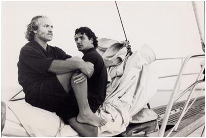 Gianni Versace junto a su pareja Antonio D'Amico.