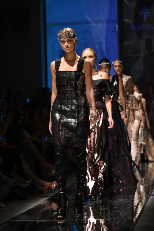Oscar Carballo en Miami Fashion Week.