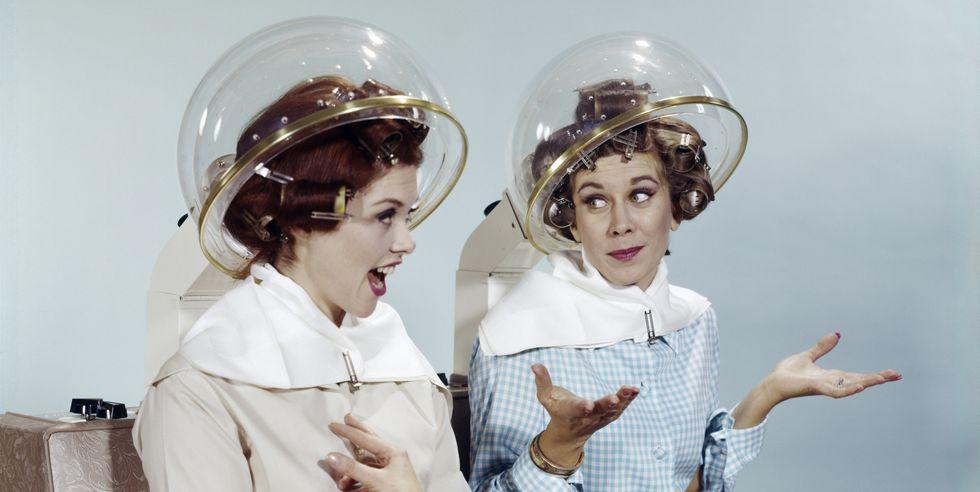 Mujeres en una peluquería