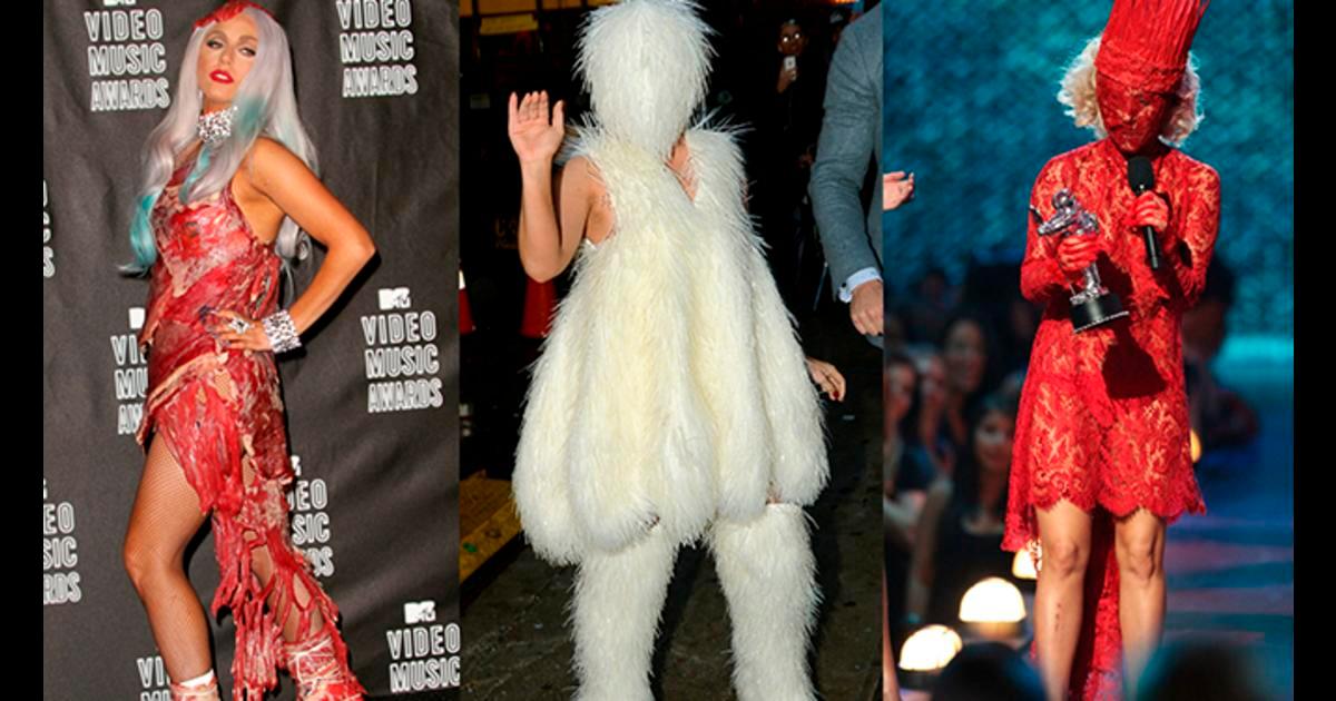 Lady Gaga y sus Vestidos más Extravagantes