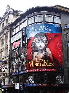 Los miserables en el Queen's Theatre de Londres