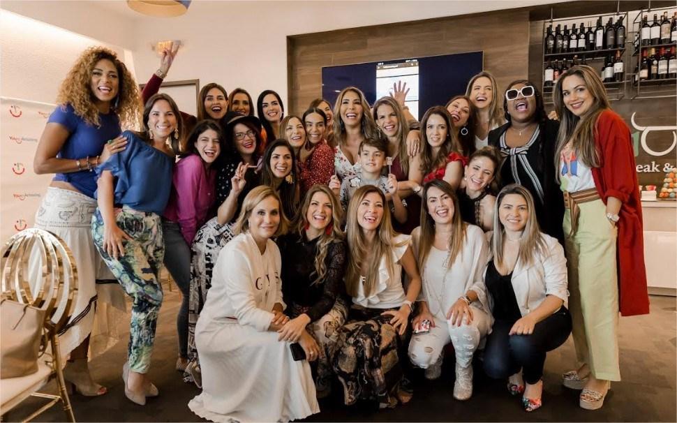 Viviana Gibelli con celebridades
