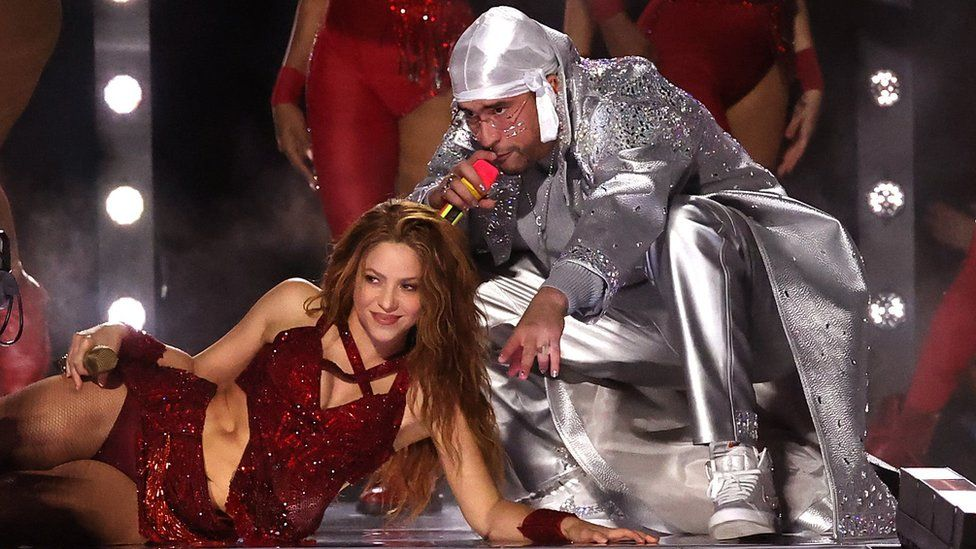 Shakira y Bad Bunny en el Super Bowl 2020