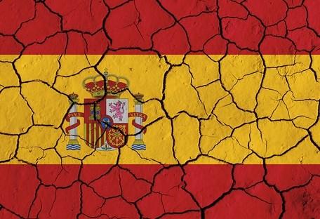 Bandera de España erosionada