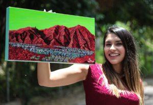 Génesis Vásquez invita a exponer el arte durante la cuarentena