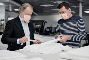 Louis Vuitton fabrica materiales sanitarios