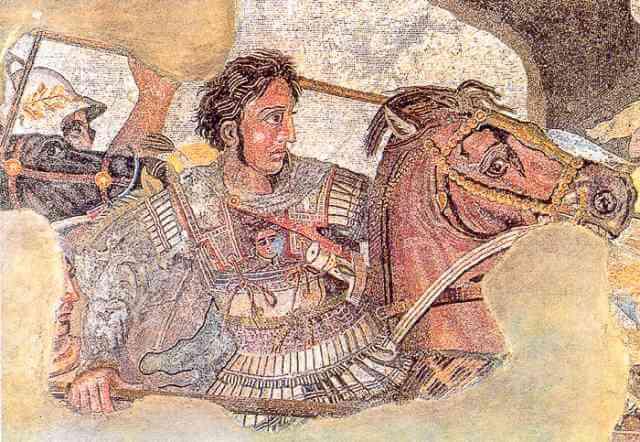 Alejandro Magno y su caballo Bucéfalo