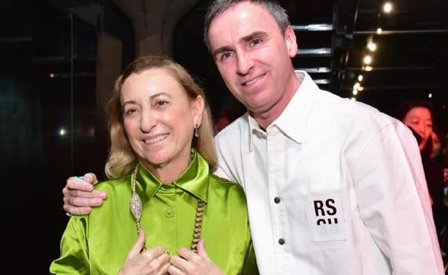 Miuccia Prad y Raf Simons