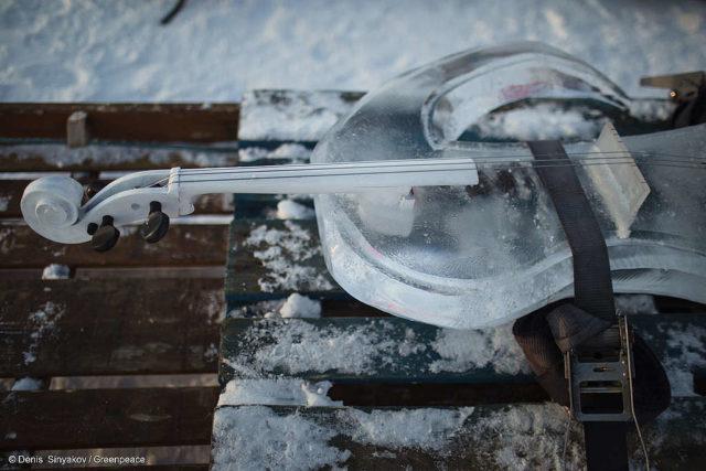 Violoncello de hielo