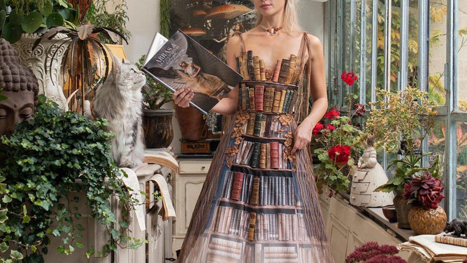 Vestido de libros