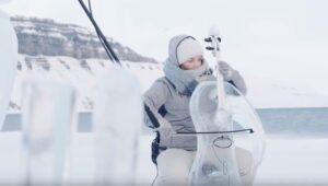 Greenpeace lanzó un concierto sobre en el Ártico con instrumentos de hielo