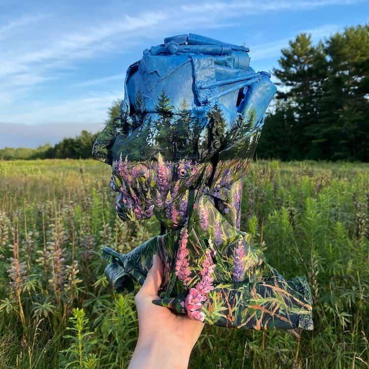 La artista Mariah Reading transforma la basura en obras de arte
